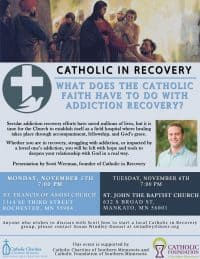 catholic in recovery flyer